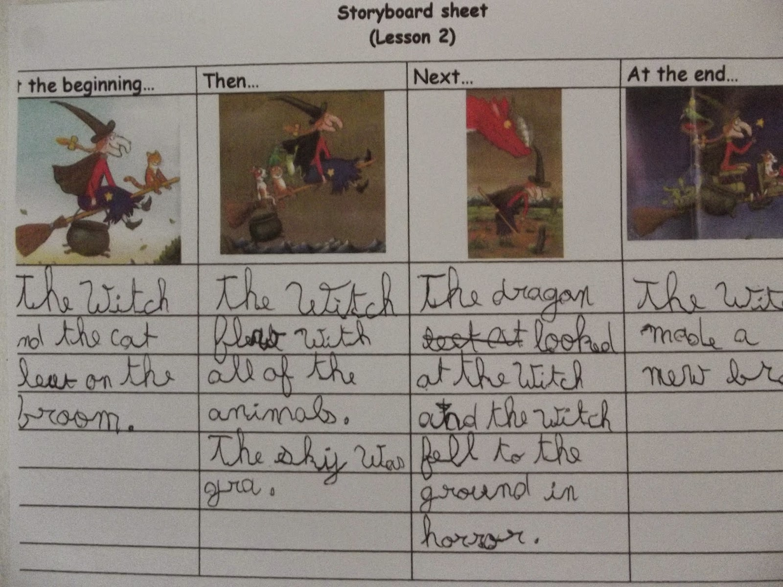 Blackhen Education KS2 Writing Our Own Storyboards