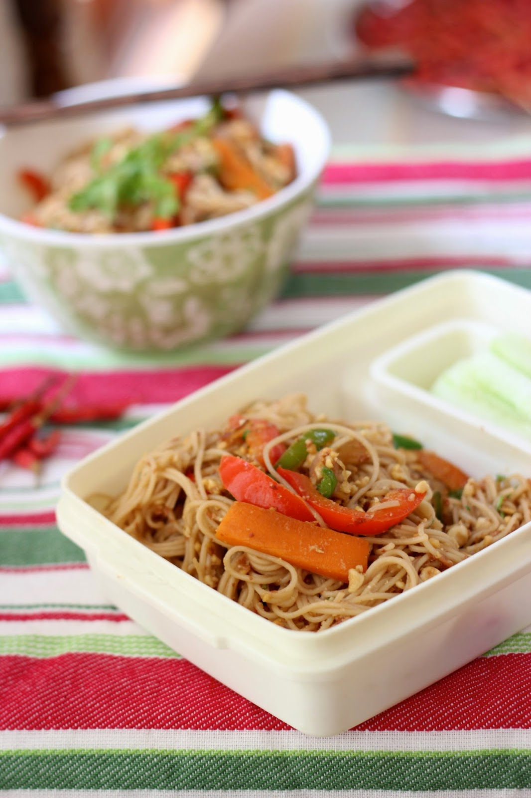 Lunchbox Ideas : Vegetable Peanut Noodles