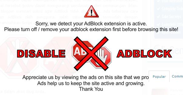 Anti-AdBlock dengan gambar