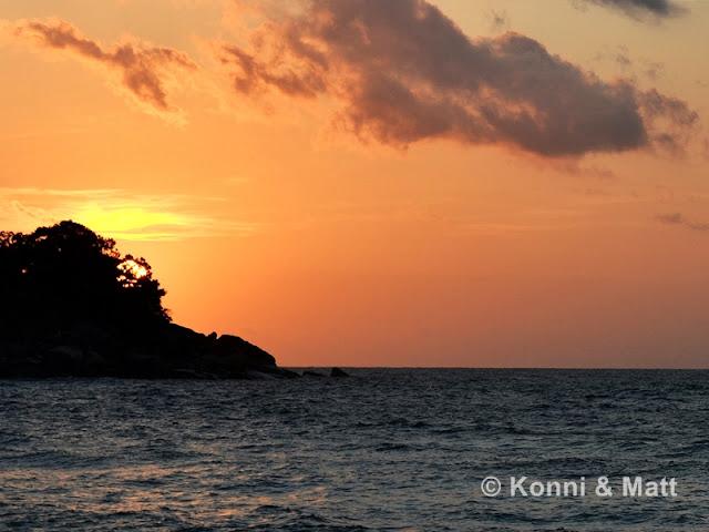 sunset, tioman island, malaysia