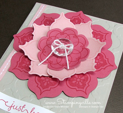 Stampin' Up! Mosaic Madness Flower Blossom Tutorial