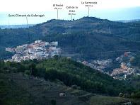 Zoom a Sant Climent de Llobregat i entorns