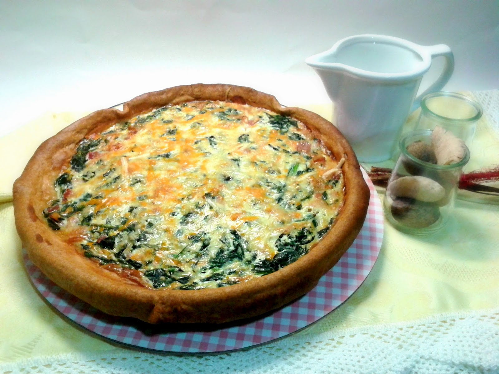 Quiche de Espinacas y Bacon