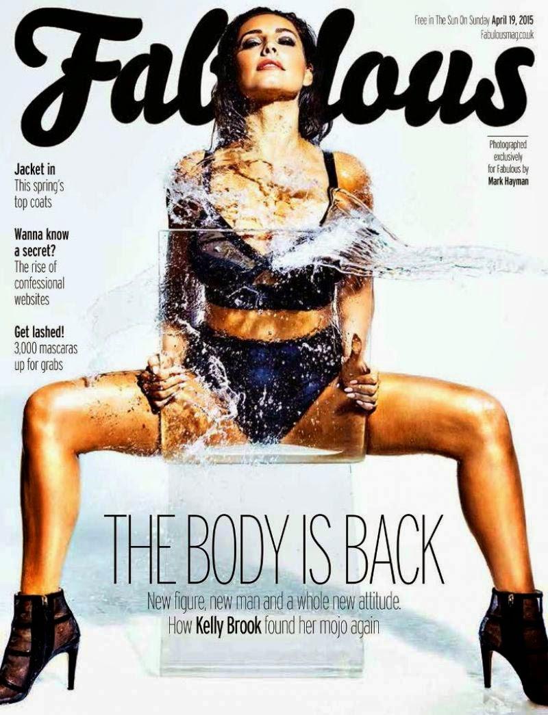 Kelly Brook on the coverof Fabulous magazine UK april 2015