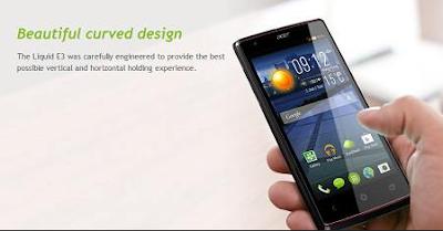 Spesifikasi Dan Harga Acer Liquid E3 Terkini
