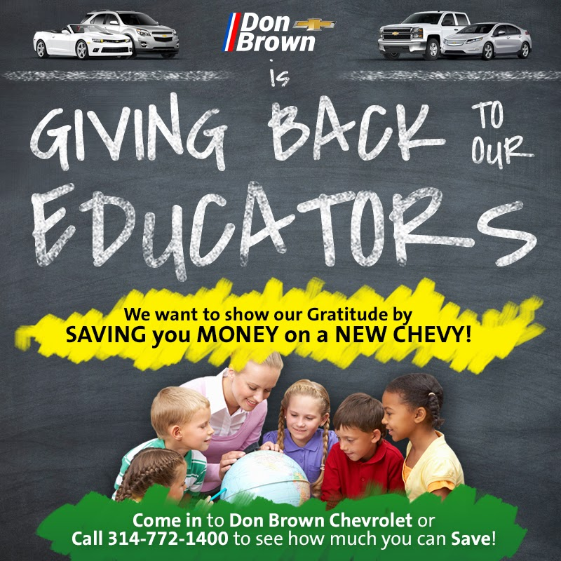 GM Educator Discount at Don Brown Chevrolet