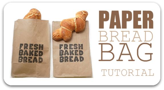 Sharing baked goods with friends and loved ones has never been so easy! This paper bread bag is created entirely form items found around the house.
