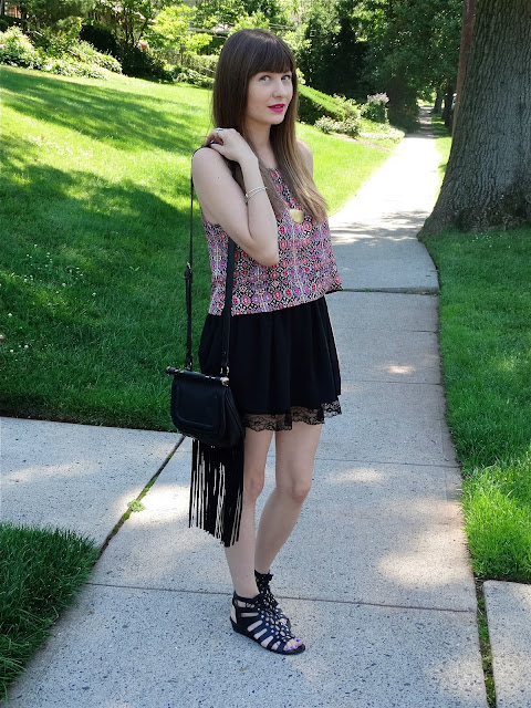 Boho-inspired look for summer inspired by Coachelle music festival, styled by House Of Jeffers | www.houseofjeffers.com