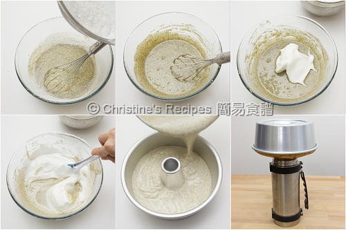 How To Make Sesame Chiffon Cake02