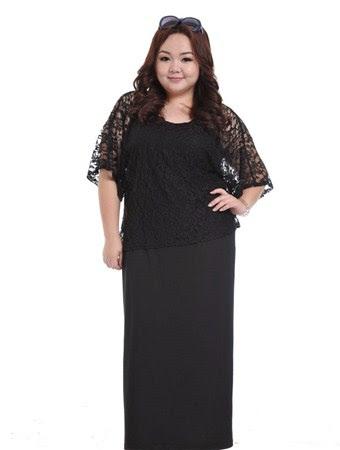 baju long dress wanita gemuk terbaru 2016