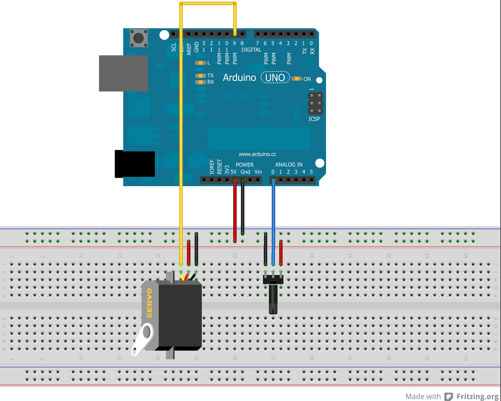 Schema Elettrico Potenziometro : Schema elettrico potenziometro arduino tutti i modi per