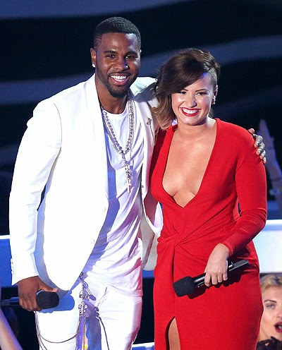 Jason Derulo and Demi Lovato_MTV Video Music Awards 2014 shows