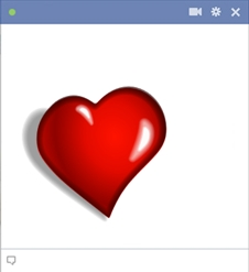 New heart symbol for Facebook