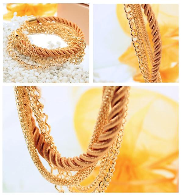Details goldenes Armband