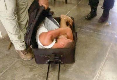 preso intentó fugar dentro de maleta