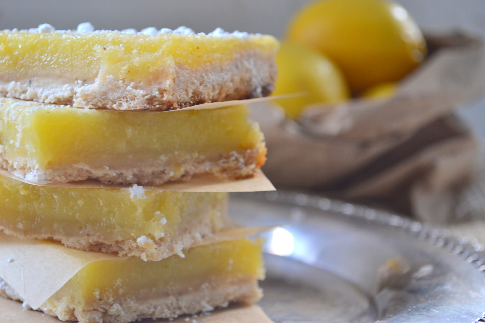 Heart of Gold: Lemon Bars with Browned Butter Short Bread ...