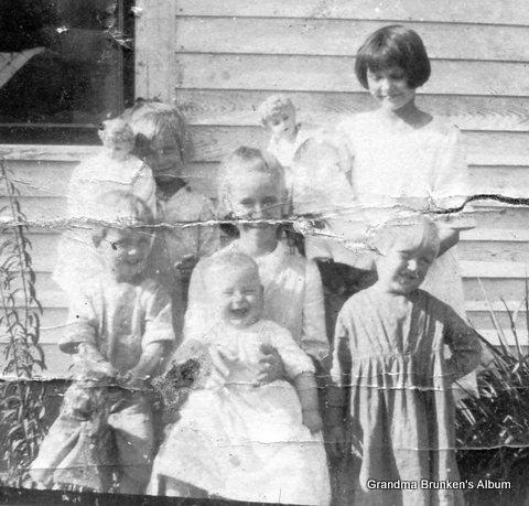 William and Mary Brunken Children - 1914