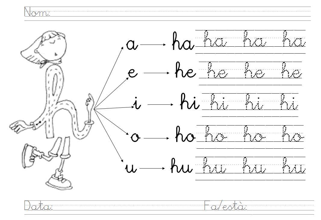Mi grimorio escolar letra h la mudita for L practicas