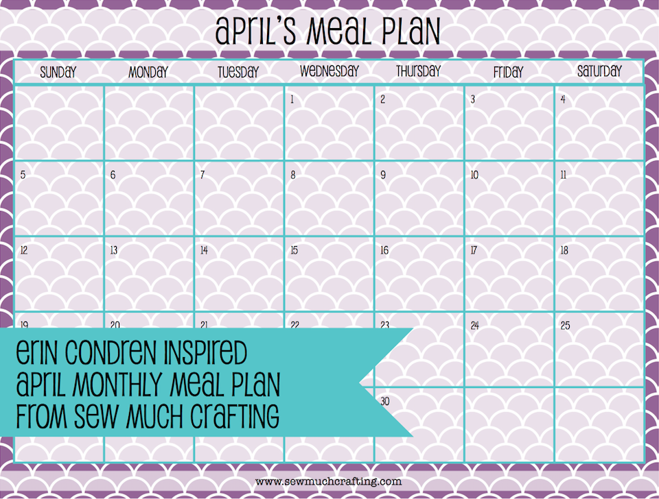 Free Erin Condren Inspired Meal Planning Printable