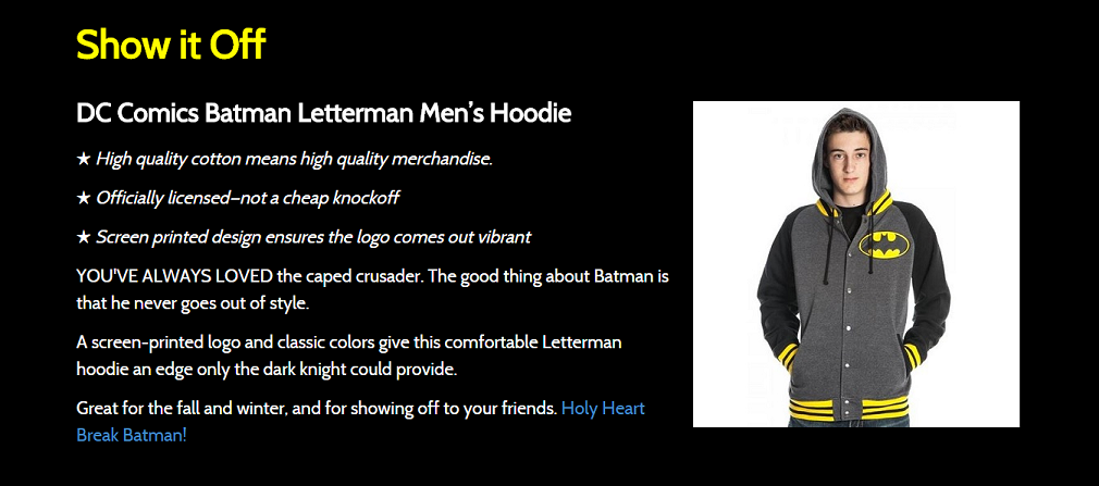 shop for batman hoodies