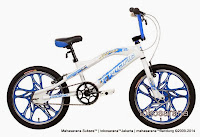 Sepeda BMX Pacific X-Cross Pelek Racing 20 Inci