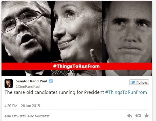 Things To Run From Jeb Bush, Hillary Clinton, Mitt Romney
