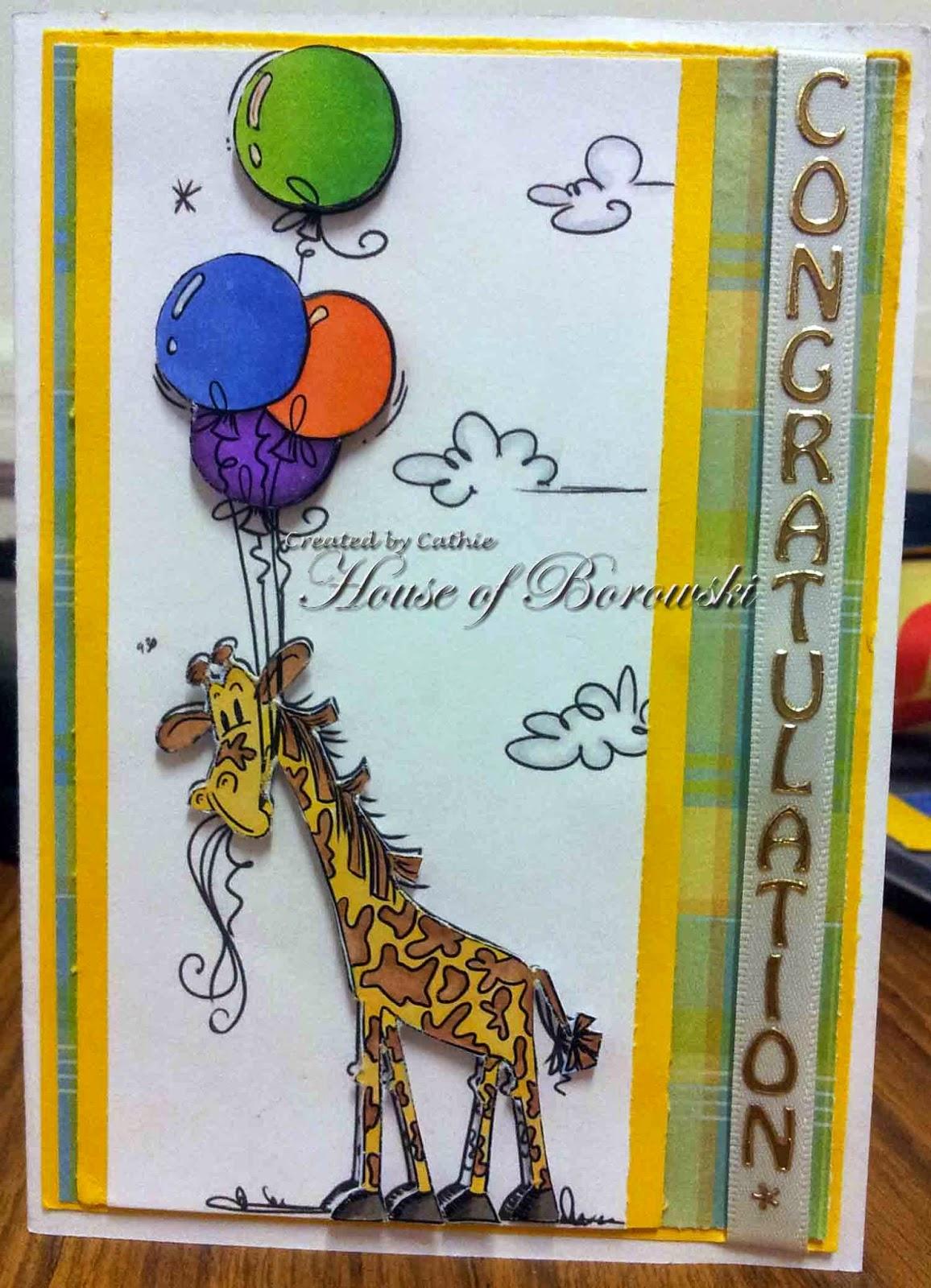 Diecut Divas, Bugaboo balloon giraffe