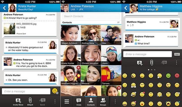 BBM ipad wifi ve ipod touch modellerindede göreceğiz