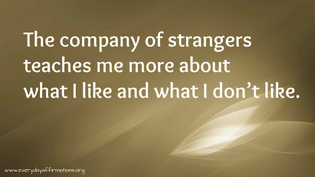 Affirmations When you are around strangers, 100 Powerful Positive Affirmations