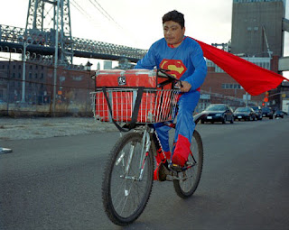 NOE REYES from the State of Puebla works as a delivery boy in Brooklyn, New York. He sends 500 dollars a week.