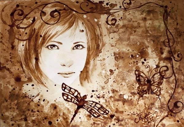 الرسم بمشروب القهوة Coffee Paintings image041-794281.jpg