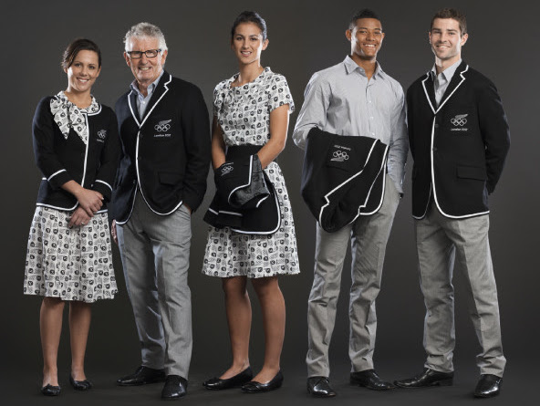New Zealand olympic uniform designed by Rodd & Gunn