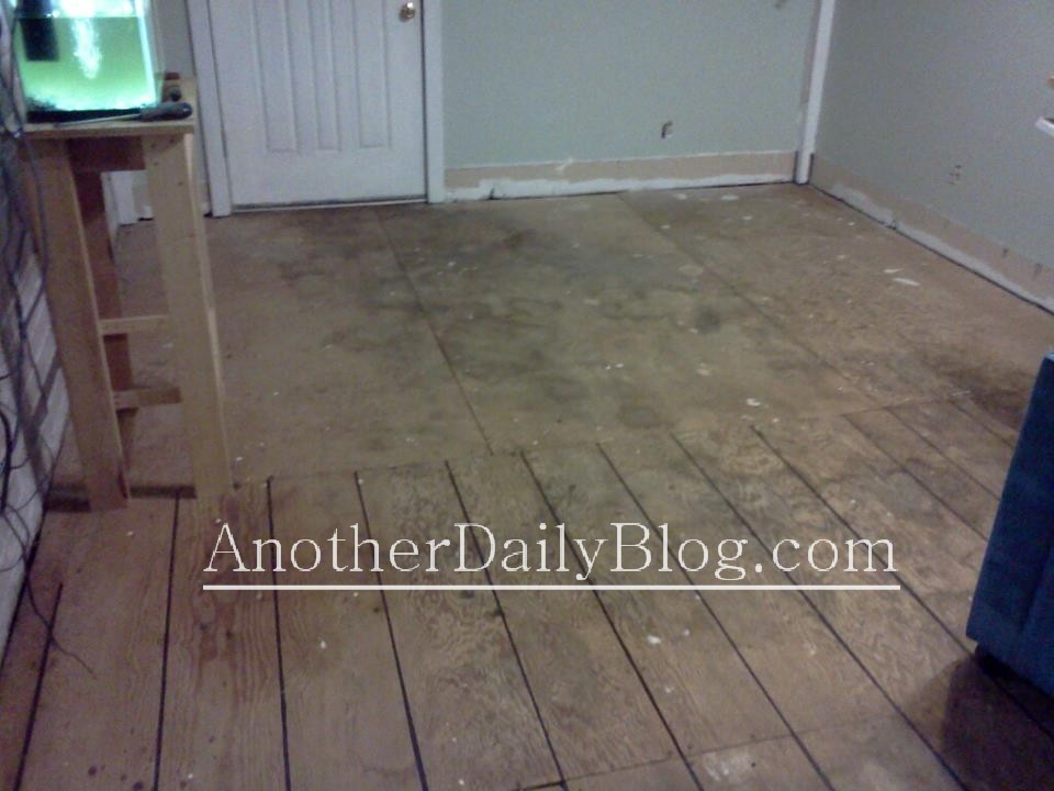 Another Daily Blog DIY How To Make Plywood Subfloor Look Like Wide - Flooring that looks like wood but is not