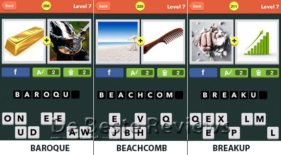 Pic Combo oplossingen antwoorden en cheats level 7