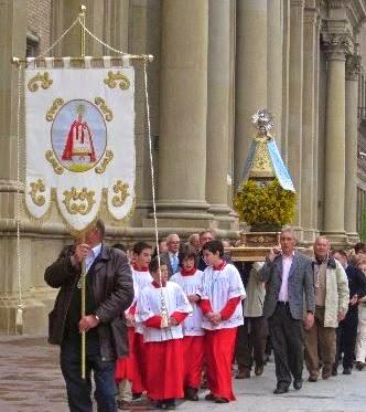 """Video: La Virgen de la Aliaga en """"El Pilar"""" 2013"""