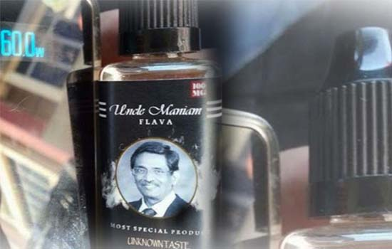 Isu Liquid vape 'Uncle Maniam'