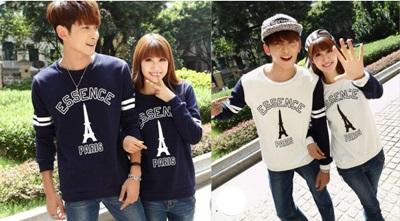 Jual Sweater Paris Essence Couple Online Murah di Jakarta Lengan Panjang Trendy