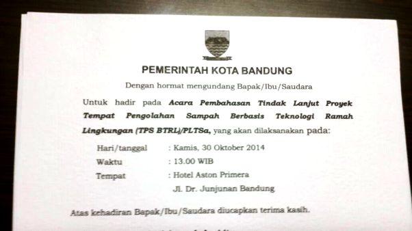 Pemkot Bandung Sosialisasi PLTSa kepada Warga di Hotel