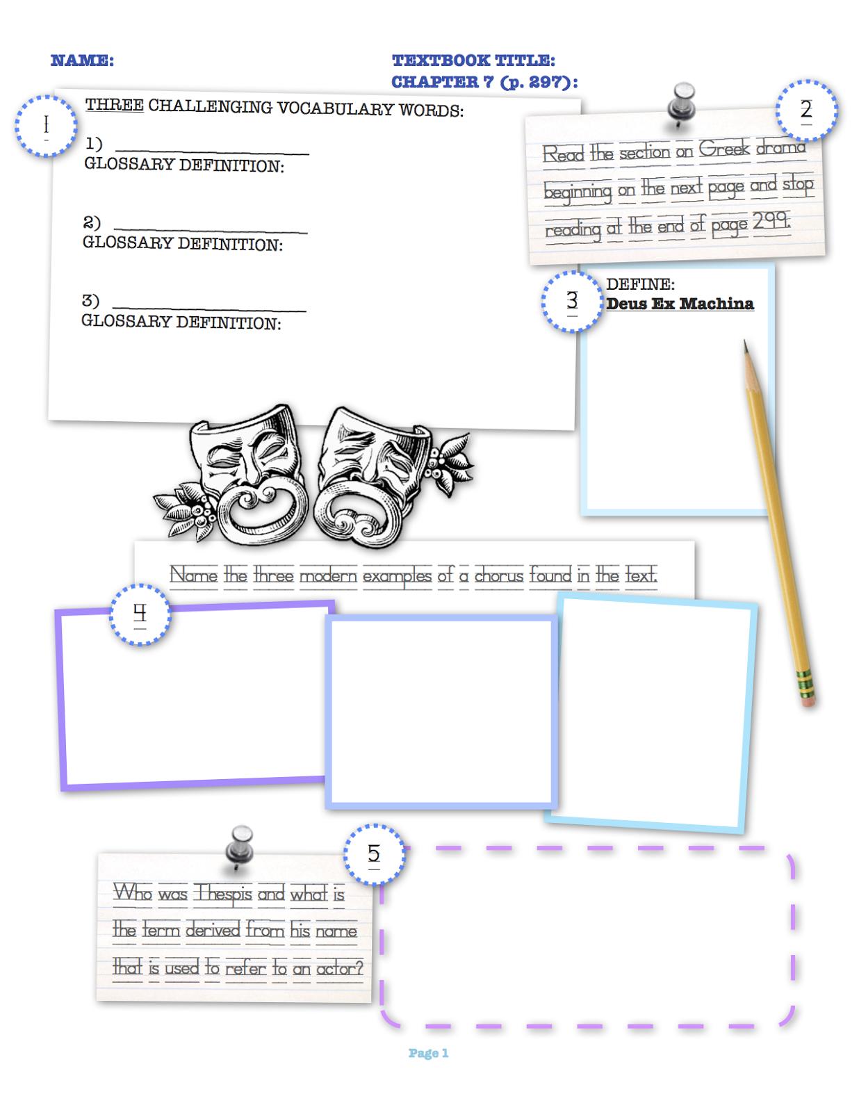 Theatre Worksheets Rupsucks Printables Worksheets – Theatre Worksheets