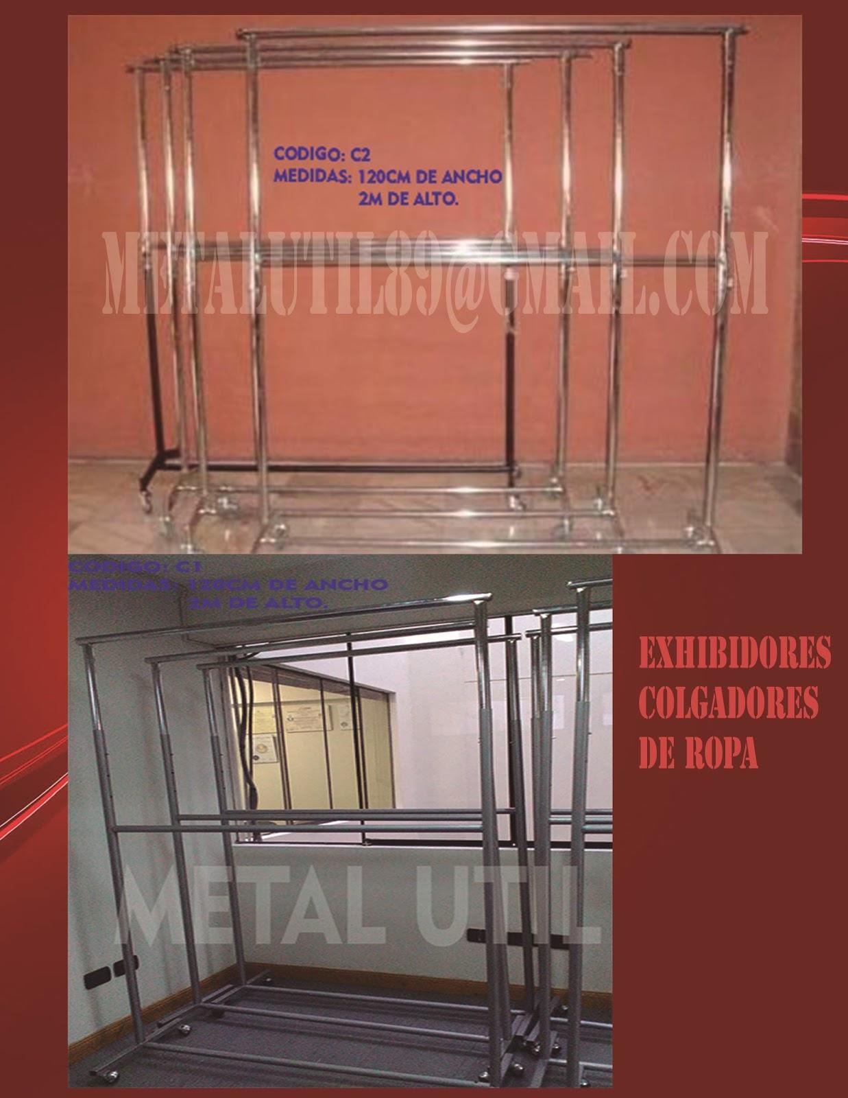 Colgadores exhibidores maniquies para todo tipo de tiendas for Colgadores de ropa metalicos