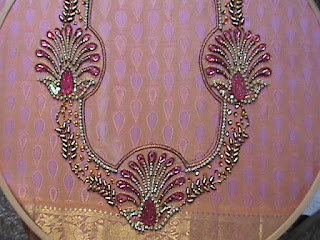 Bridal Embroidery Blouse Designs 66