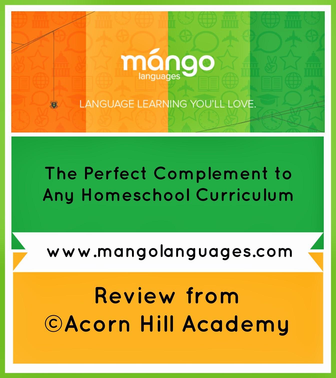 Acorn Hill Academy Review Mango Languages Homeschool Edition