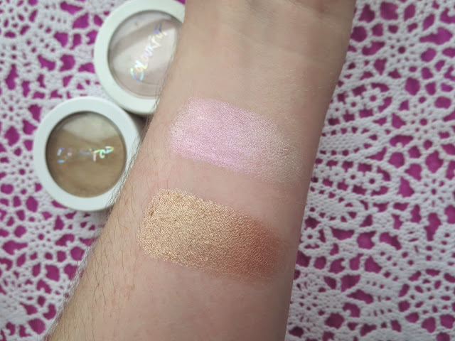 a picture of Colourpop Cosmetics Highlighter in Monster, Wisp (swatch)