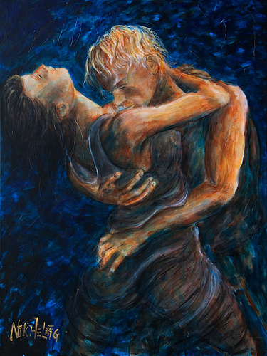 Love Romantic couple Painting