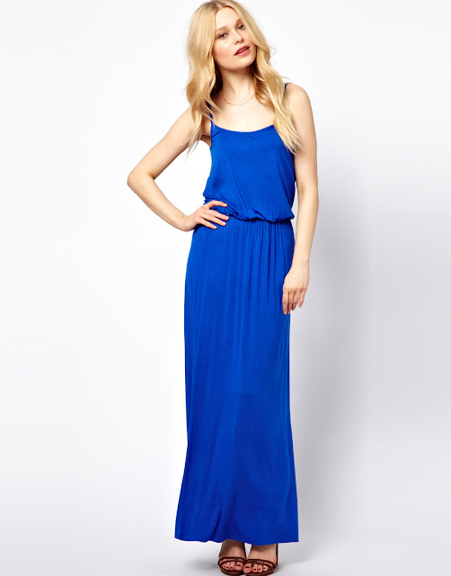 waisted maxi dress