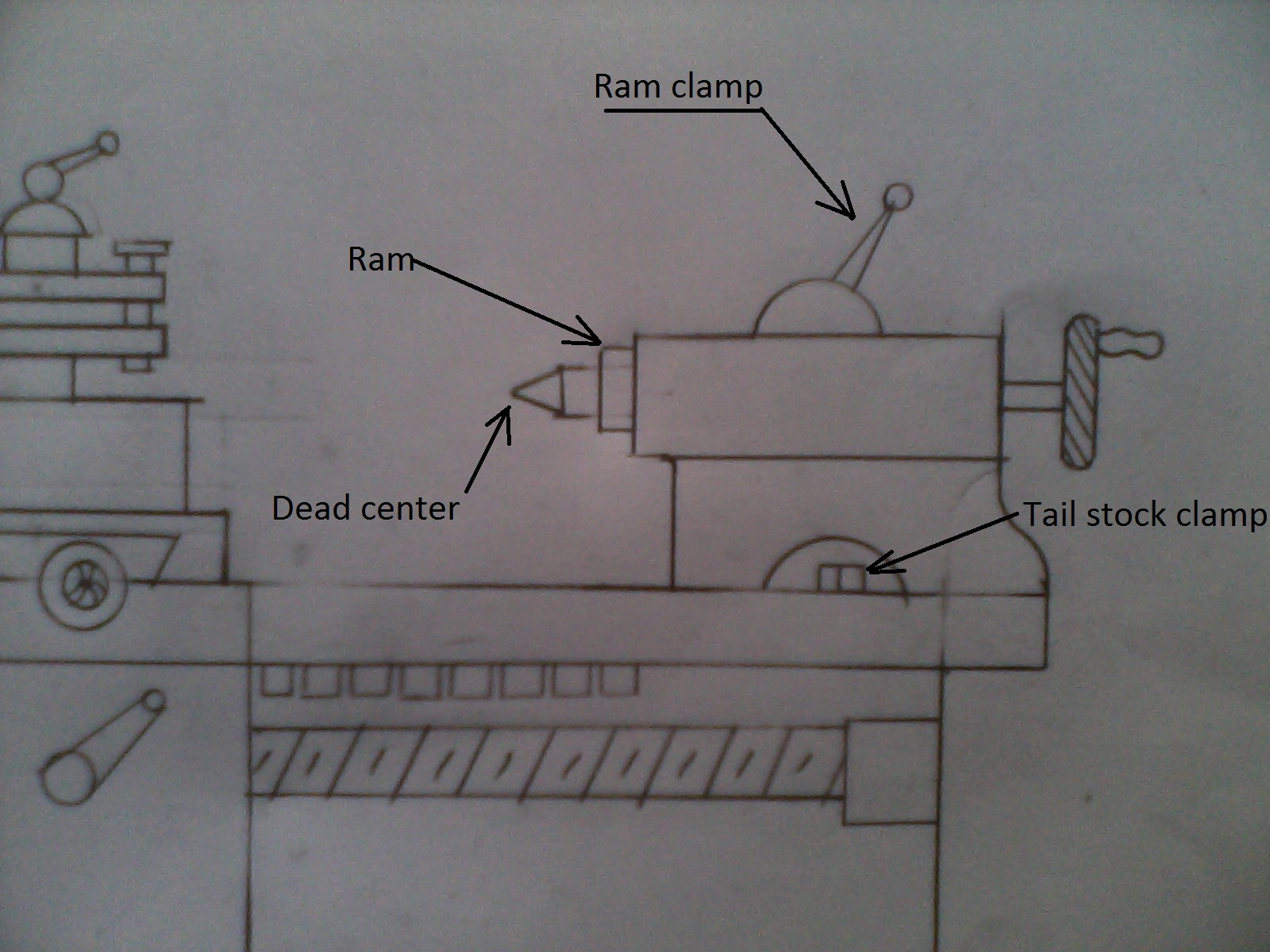 Art Of Sketches  How To Draw Standard Lathe In Simple Steps