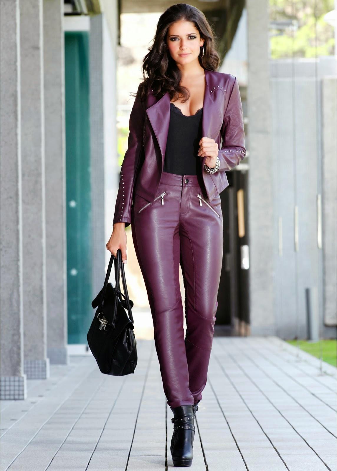 Brown latex leggings part 1 - 1 part 1