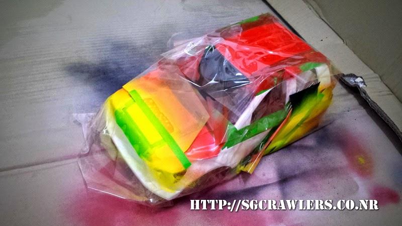 tamiya - Boolean21's Tamiya Highlift Tundra - new paint scheme - Ivan Stewart Toyota Theme 20140801_224624