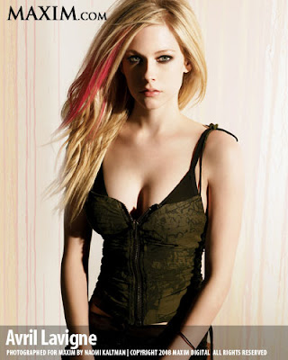 Avril Lavigne en Maxim