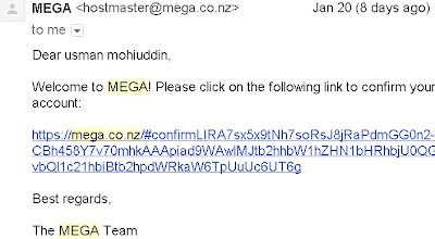 mega.co.nz sign up email